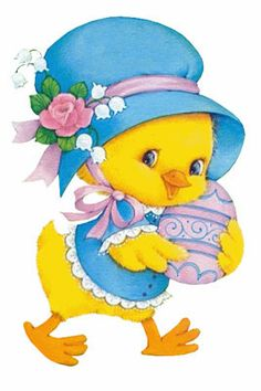 Easter chick with egg
