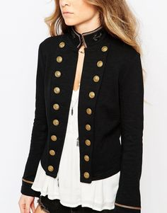 An appealing outfit: military jacket women military jacket women shop denim supply by ralph lauren military jacket at asos. Military Jacket Women, Military Style Jackets, Military Fashion, Military Inspired Fashion, Military Jacket Outfits, Military Coats, Military Chic, Beauty And Fashion, Look Fashion