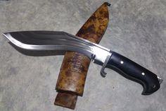 """Gurkha MC 3 Fuller Khukuri Khukri Kukri Knife 10"""" Gripper Block Full Flat Tang"""