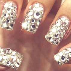 Las Vegas Bling- Glitzy Nails For A Night On the Town. @ashersocrates