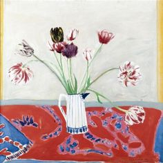 View Rembrandt tulips by Elizabeth Violet Blackadder on artnet. Browse upcoming and past auction lots by Elizabeth Violet Blackadder. Botanical Illustration, Botanical Art, Illustration Art, Illustrations, Still Life Artists, Blackadder, Painting Still Life, High Art, Painting & Drawing
