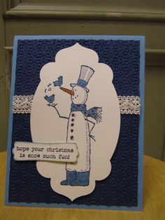 Fun Christmas card using the stamp set Snow Much fun from Stampin' Up!