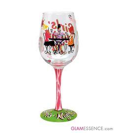 Glamessence - Girls Night In Lolita Wine Glass, $24.95 (http://www.glamessence.com/girls-night-in-lolita-wine-glass/)