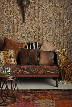 Zebrawood wallpaper design by Cole and Sons.