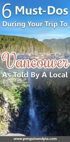 There are so many things to do in Vancouver Canada. A local gives you 6 Insider-Tips for your next trip to Vancouver including beaches photography spots and incredible hikes in North Vancouver. Vancouver Vacation, Visit Vancouver, Vancouver Travel, Vancouver Island, North Vancouver, Vancouver Things To Do, Vancouver Restaurants, Tonga, Rocky Mountains