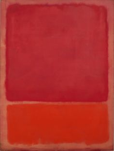 MARK ROTHKO – UNTITLED (RED, ORANGE), 1968 – Ohne Titel (Rot, Orange )– Öl auf Leinwand, 233 x176 cm – Foto: Robert Bayer, Basel