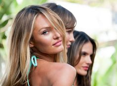 Candice Swanepoel worked her stuff for the camera at the Victoria's Secret event today. Get more pictures here!