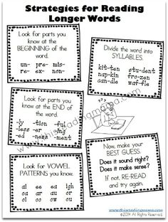 Strategies for Reading Longer Words {free printables included} | This Reading Mama