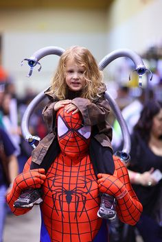 Little Doc Ock and Spider Man, 2013 Arizona Comic Con.