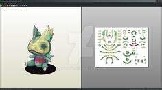 Kecleon Doll pokemon papercraft (free download) by Antyyy
