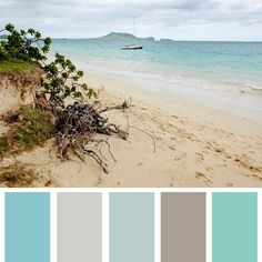Ideas apartment bathroom themes colour schemes beach color Ideas apartment bathroom themes c Beach Color Schemes, Beach Color Palettes, Bathroom Color Schemes, Bathroom Colors, Colour Schemes, Beach Bedroom Colors, Turquoise Bathroom, Hawaiian Homes, Hawaiian Decor