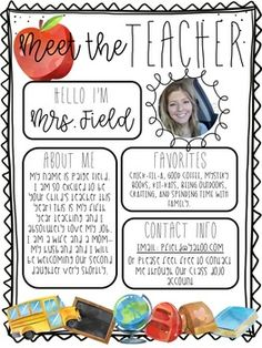 Back to School Meet the Teacher + Newsletter Templates Back to School Meet the Teacher Letter Templates Teacher Introduction Letter, Letter To Teacher, Letter To Parents, Parents As Teachers, Parent Letters, Teacher Forms, School Teacher, Meet The Teacher Template, Kindergarten
