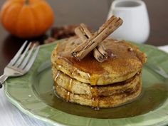 Easy Pumpkin Pancakes Canned pumpkin, allspice and cinnamon bring the flavor of fall to the breakfast table in our pumpkin pie pancakes that are ready in just 15 minutes. Cinnamon Roll Pancakes, Pumpkin Pancakes, Pancakes And Waffles, Applesauce Pancakes, Yogurt Pancakes, Ricotta Pancakes, Fluffy Pancakes, Crepes, Recipes