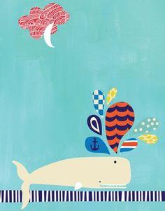 Whale spout by Carolyn Gavin  www.ecojot.com