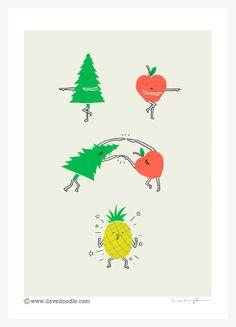PineApple - Art print - ilovedoodle - The visual art of Lim Heng Swee