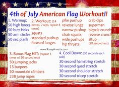 Rosey Annettes's: Brushes, Biceps, & Bites.: 4th of July American Flag Workout
