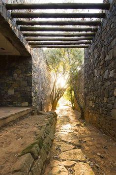Arch Building, Building Structure, Farm Villa, Highland Homes, Stone Houses, Santorini, Entrance, Exterior, Landscape