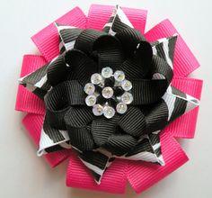 flower bow zebra
