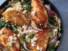You'll be delighted by the incredible results from this one-pot wonder: tender bulgur, creamy feta, and moist chicken. You don't even nee...