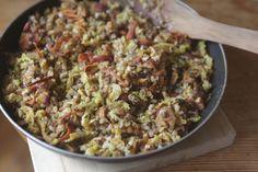 Arroz com lentilha e legumes