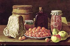 Luis Egidio Melendez Still Life with Fruit and Cheese