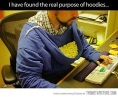 The proper way to use a hoodie…