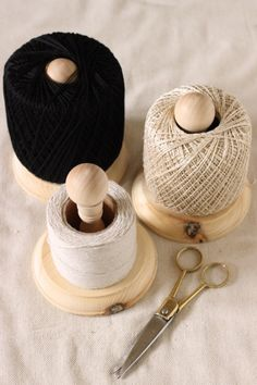 #diy twine stand from craft store wood parts