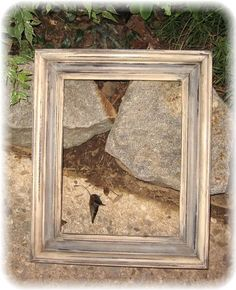 chalk paint frame, LOVE!!! tan and grey.