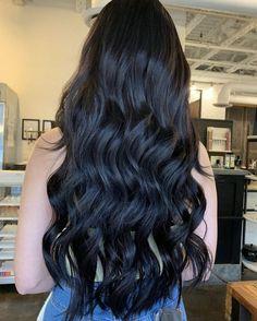 Beautiful Long Hair, Gorgeous Hair, Curled Hairstyles, Straight Hairstyles, Straight Black Hair, Cut My Hair, Aesthetic Hair, Hair Pictures, Hair Highlights