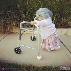 Little Old Lady  Costume..LOL  I laughed so hard I cried!  :)