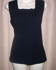 Nouveaux NEW Womens L Cotton Shirt Top Pull Over Square Neck Solid #Nouveaux #KnitTop #Career