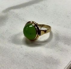 Green garnet gold ring. #williamsjewellerstoronto