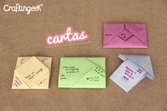 Craftingeek*: Doblando Cartas: cuadrito, jale, flecha y bolsita
