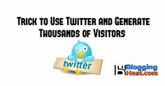 One of the best secret Trick to use Twitter.com Social Media for increase your website traffic easily and generate thousands of visitors following this tutorial.