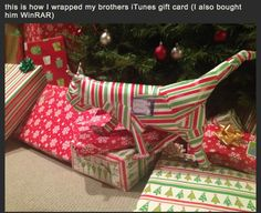 21 People who got creative with their gift wrapping.  Step one: read this post. Step two: win Christmas next year.