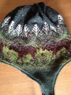 Ravelry: Moose Camouflage Hat pattern by Dawn Kinsey #free_pattern