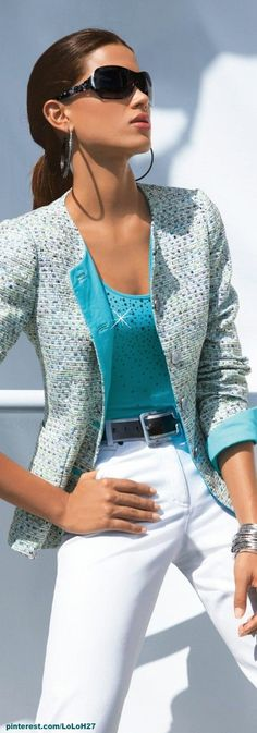 44 Ideas For Fashion Casual Chic Summer White Tops Street Style Outfits, Mode Outfits, Mode Chic, Mode Style, Spring Dresses Casual, Casual Outfits, Dress Casual, Mode Costume, Look Blazer