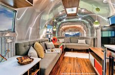 Timeless travel trailer « Glamper ~ An Airstream Diary I LOVE THIS STYLE - so crazy cool Camper interior redecorate