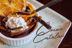 Orange and lemon-infused baked custard, with a brulée topping and citrus compote - One of the signature Desserts at the Zagora Grill Room in Eldoraigne, Centurion. Black Burger, Cajun Fries, Beet Chips, Oranges And Lemons, Lunches And Dinners, Custard, Cheddar Cheese, Grilling, Bacon