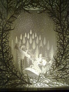 PAPER cut.....Christmas windows: Tiffany | by Catherine Dixon