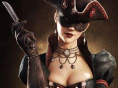 Gothic Fantasy Nudes | ... Game Graphics Girl fantasy warrior gothic pirate wallpaper background
