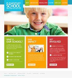 Colorful kid friendly web design