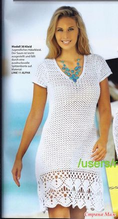 Awesome Benefiting From Beginners Crochet Ideas Crochet Summer Dresses, Crochet Lace Dress, Crochet Shirt, Knit Dress, Knit Crochet, Dress Patterns, Crochet Patterns, Crochet Ideas, Hippie Crochet