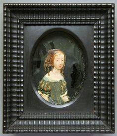 Wax miniature of Archduchess Eleanor Maria Josefa of Austria by Anonymous, before 1671, Staatliche Kunstsammlungen Dresden - Rüstkammer Dresden, Museum, Online Collections, Lithuania, Mario, Crown, Frame, Anonymous, Miniature
