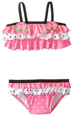 Hartstrings Baby Girls' Nylon Spandex 2 Piece Bathing Suit