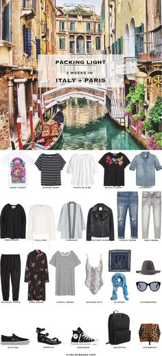 Packing List: 3 weeks in Italy+Paris.What to Pack  - Modern Grunge Style - livelovesara