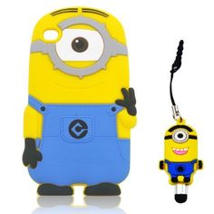 Despicable Me 3D Silicone Minion Stuart Pattern Cover Case Compatible for Apple Ipod Touch 4/4g/4th Generation by SUPERCHINA, http://www.amazon.com/dp/B00ESSXJCG/ref=cm_sw_r_pi_dp_.uzBsb0MDFDD5