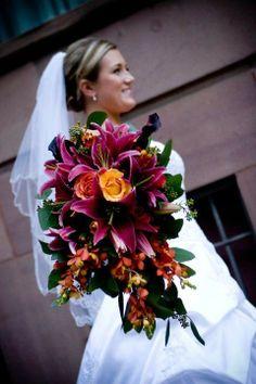 Bride bouquet October Wedding flowers, Chiffon dresses for October wedding