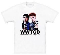 What Would Coreys Do Haim Feldman Lost Boys T Shirt - 96011 White - New - Shirt is 100 Pre Shrunk