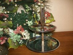 Mid-Century Mad Men Style Mod Entertaining Tiered Tray by Kromex Vintage Serving…